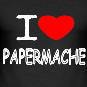 I LOVE papmache - Herre Slim Fit T-Shirt