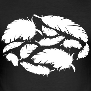 feathers white - Men's Slim Fit T-Shirt