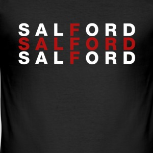 Salford United Kingdom Flag Shirt - Salford T-Shir - Slim Fit T-shirt herr