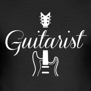 Gitarrist T-shirt - Slim Fit T-shirt herr