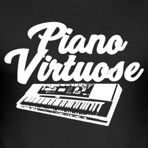 Pianovirtuos - musik! - Slim Fit T-shirt herr