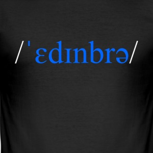 Edinburgh Skottland fonetisk t-skjorte - Slim Fit T-skjorte for menn