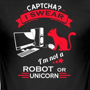 CAPTCHA CAT - Herre Slim Fit T-Shirt