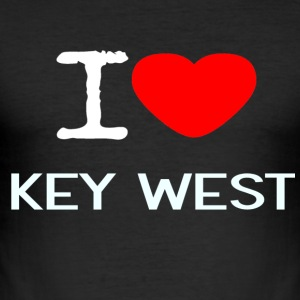 I LOVE KEY WEST - Men's Slim Fit T-Shirt