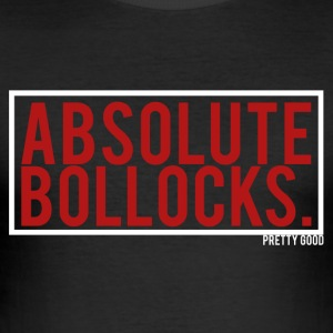 BOLLOCKS. - Men's Slim Fit T-Shirt