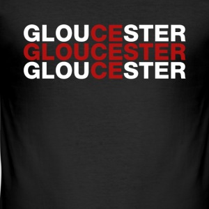 Gloucester United Kingdom Flag Shirt - Gloucester - Slim Fit T-shirt herr