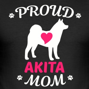 Proud Akita mom - Men's Slim Fit T-Shirt