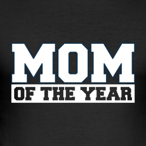 MOM OF THE YEAR - MOM POWER - Men's Slim Fit T-Shirt