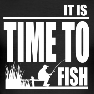Time to Fish - Fishing - Men's Slim Fit T-Shirt