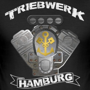 Triebwerk Hamburg Metal Edition - Männer Slim Fit T-Shirt