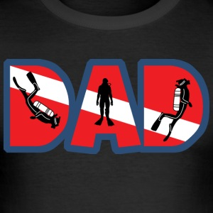 SCUBA DAD - Herre Slim Fit T-Shirt