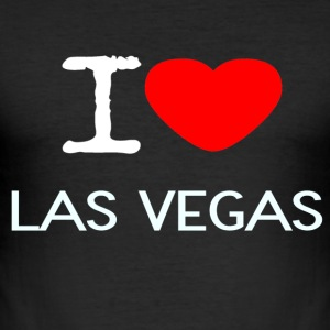 I LOVE LAS VEGAS - Men's Slim Fit T-Shirt