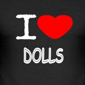 I LOVE DOLLS - Männer Slim Fit T-Shirt
