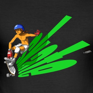 skate_green - Männer Slim Fit T-Shirt