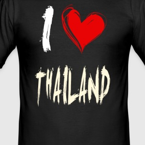 I love Thailand - Männer Slim Fit T-Shirt