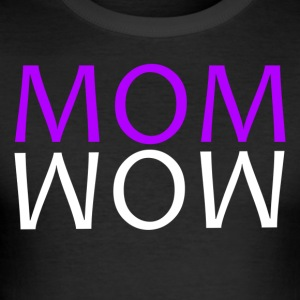 ++ ++ MOM WOW - Slim Fit T-skjorte for menn