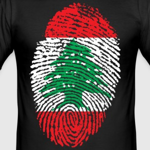 LEBANON 4 EVER COLLECTION - Männer Slim Fit T-Shirt
