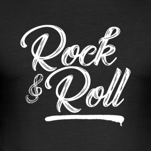 Rock and Roll - Musik - Slim Fit T-shirt herr
