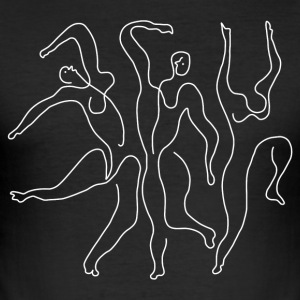 "Picasso ""Three Dancers"" white - Men's Slim Fit T-Shirt"
