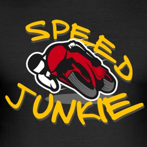 SPEED JUNKIE - MOTORRAD RACER ROADRACING - Männer Slim Fit T-Shirt