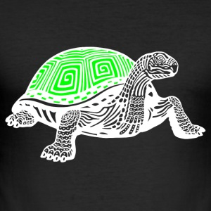 turtle hvit - Slim Fit T-skjorte for menn