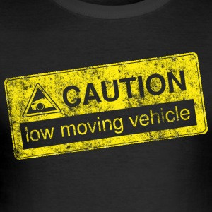 forsiktighet lowmovingvehicle av GusiStyle - Slim Fit T-skjorte for menn