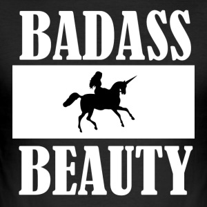 BADASS BEAUTY - Men's Slim Fit T-Shirt