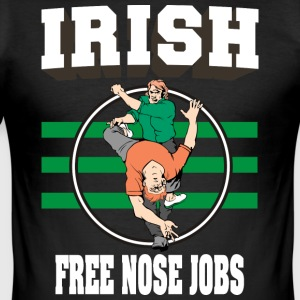 Irish Free Nose Jobs - Men's Slim Fit T-Shirt