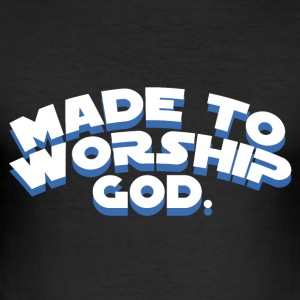 Made to Worship God - Believe - Männer Slim Fit T-Shirt