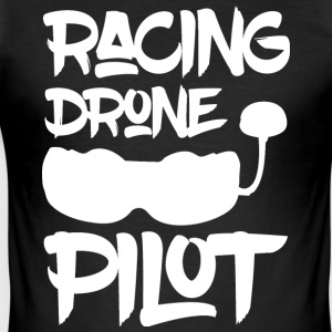 Racing pilote Drone - FPV - Tee shirt près du corps Homme