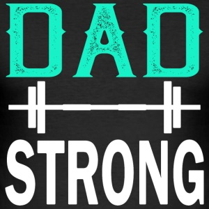 Pappa Strong - fitness - Slim Fit T-shirt herr