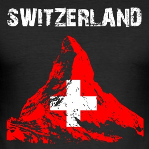 Nation-Design Switzerland Matterhorn - Men's Slim Fit T-Shirt