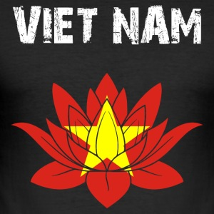 Nation-Design Viet Nam Lotus - Männer Slim Fit T-Shirt