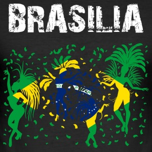Nation-Design Brasilia Carnival Rio - Männer Slim Fit T-Shirt