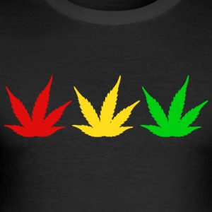 Reggae Weed - Men's Slim Fit T-Shirt