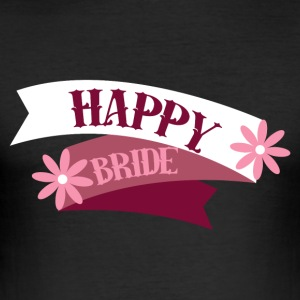 JGA / Bachelor: Happy Bride - Men's Slim Fit T-Shirt