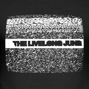 The Livelong June - Logo on static noise/analog TV - Slim Fit T-shirt herr