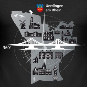 Uerdingen am Rhein 360 ° - Slim Fit T-skjorte for menn