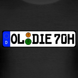 Oldie 70 years history - Men's Slim Fit T-Shirt