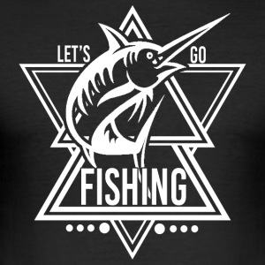 Lets go Fishing - We love fishing! - Men's Slim Fit T-Shirt