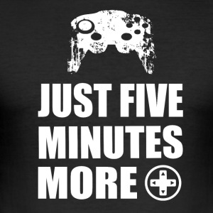FIVE MORE MINUTES - Gamer Girls - Männer Slim Fit T-Shirt