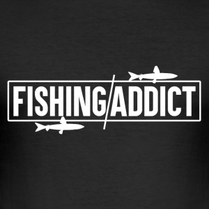 Fishing Addict - Fishing - Men's Slim Fit T-Shirt