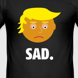 Sad Trump | Fun Shirt | Feelings of the President - Men's Slim Fit T-Shirt