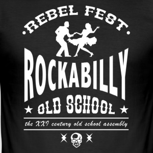Rockabilly-Fest - Männer Slim Fit T-Shirt