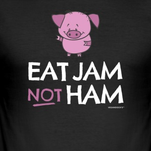vs0086 4 eat jam not ham Pig - Men's Slim Fit T-Shirt