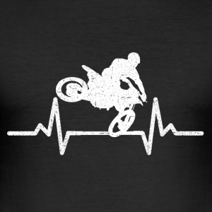 My heart beats for motorcycles! - Men's Slim Fit T-Shirt
