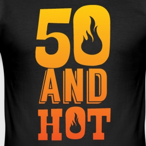 50 års fødselsdag: 50 og Hot! - Herre Slim Fit T-Shirt