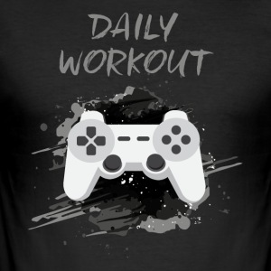 Video Game! Daily Workout! - Men's Slim Fit T-Shirt