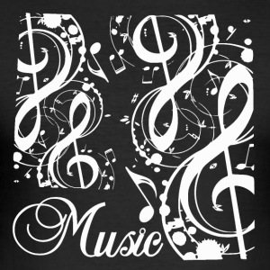 Music Notes - Music Passion - Männer Slim Fit T-Shirt
