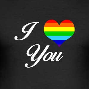 LGBT I LOVE YOU - slim fit T-shirt